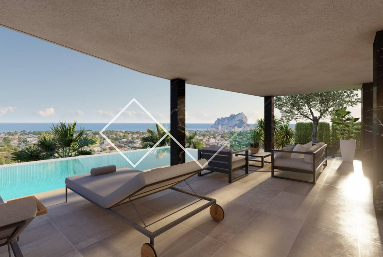 exterior - Luxury new build villa sea view in Calpe