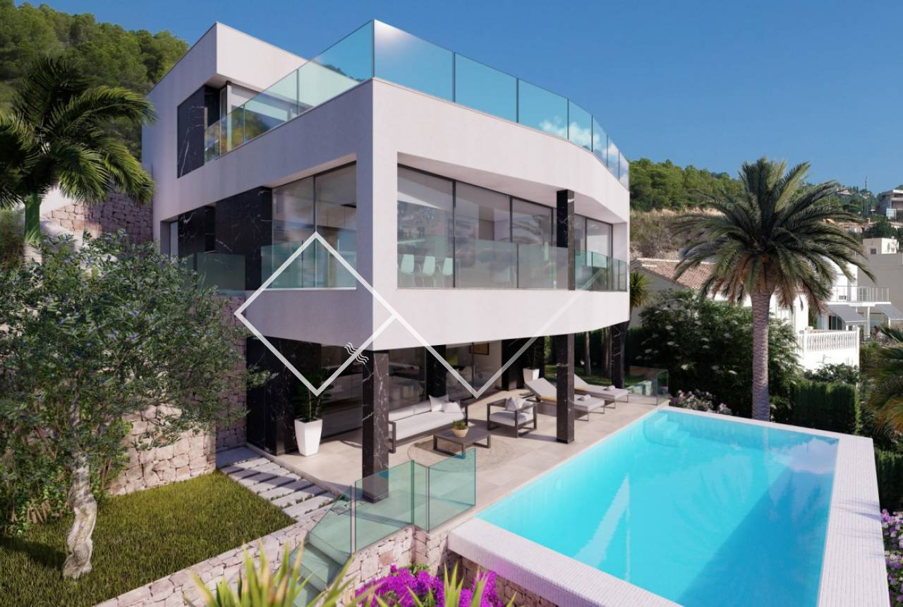 Luxury new build villa sea view in Calpe