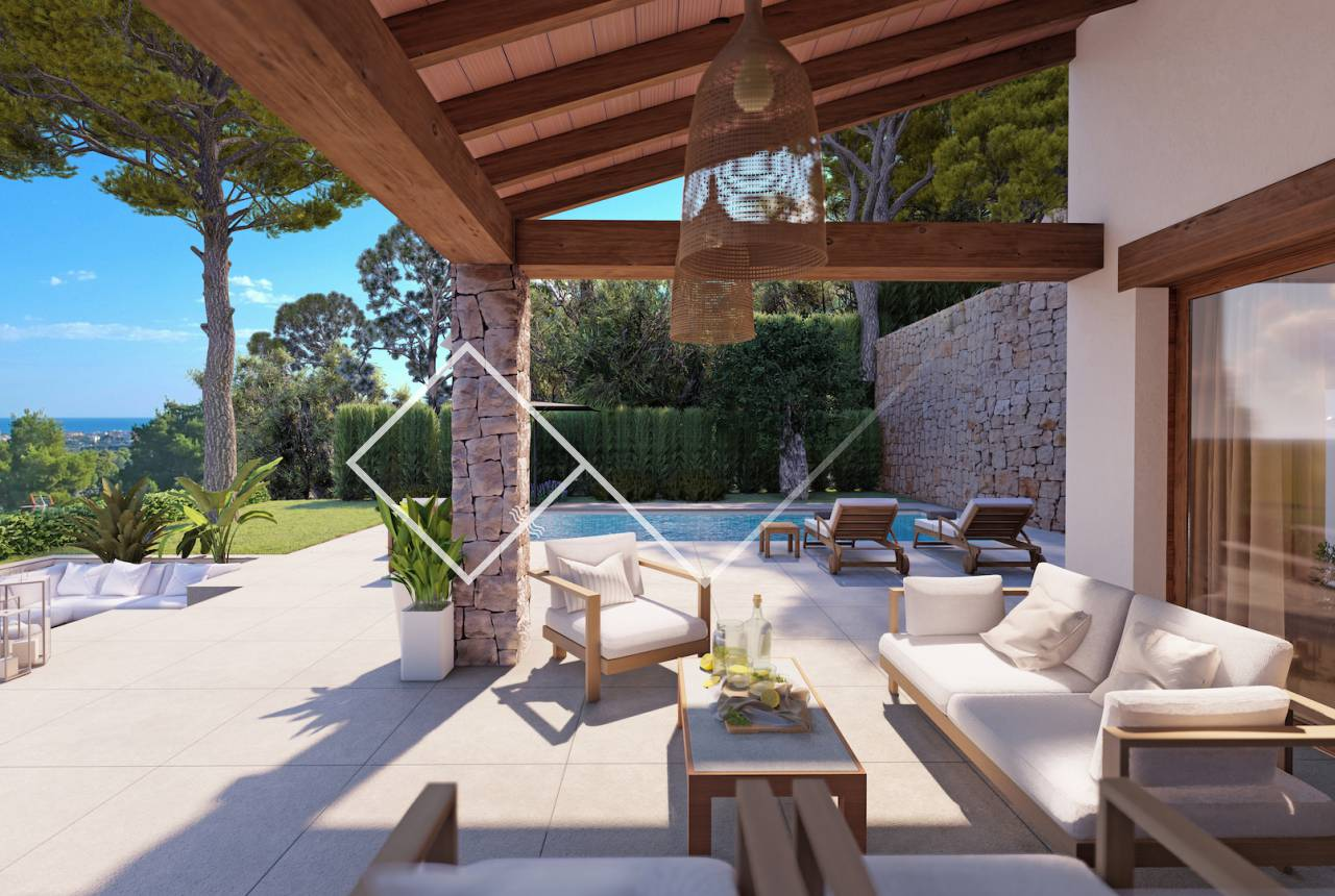 outside - Grand elegant new build villa in El Piver; Javea
