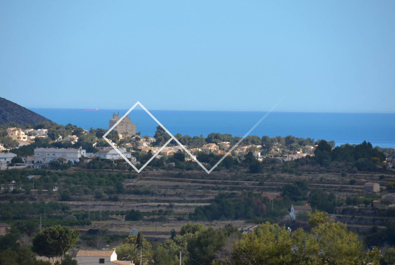 plot and views - Sea view plot for sale close to Teulada