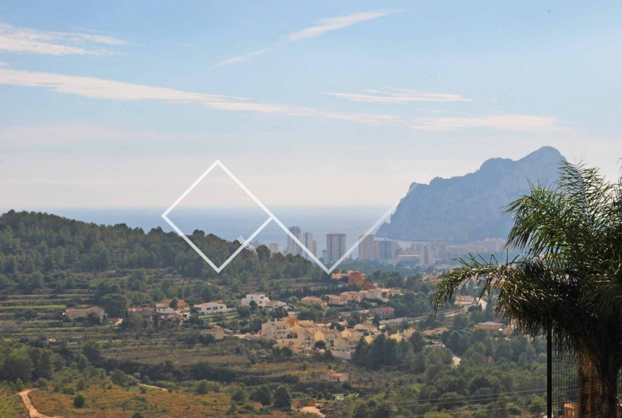 sea view Peñon - Lovely villa for sale in Calpe with great sea views