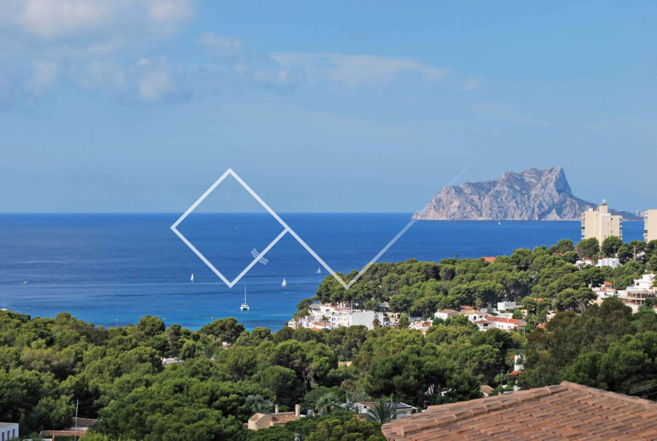 sea views peñon calpe - Mediterranean sea view villa in El Portet Moraira